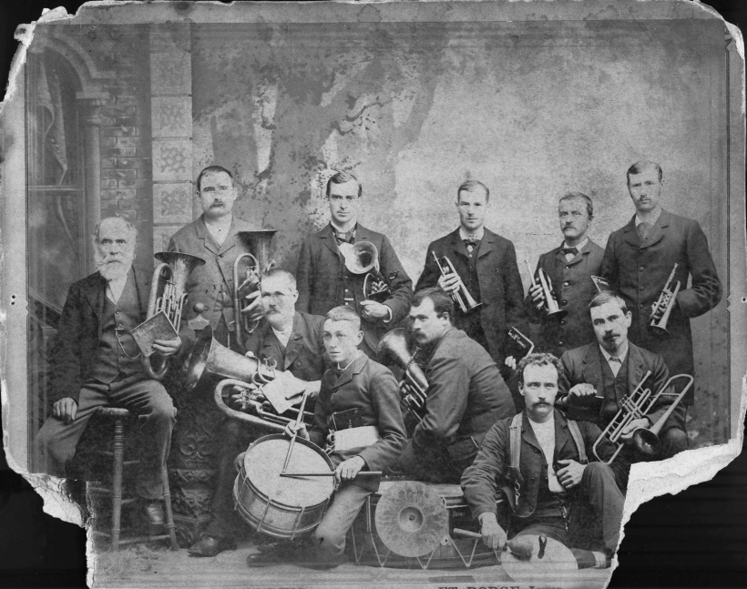 The first Fort Dodge band - 1882