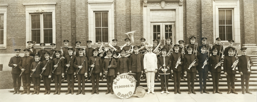 1931 Band in front of FD City Hall - click to enlarge