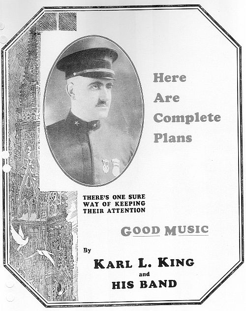Photograph  Ft Musician Karl King Year 1928 8x10 Dodge Iowa Bandleader