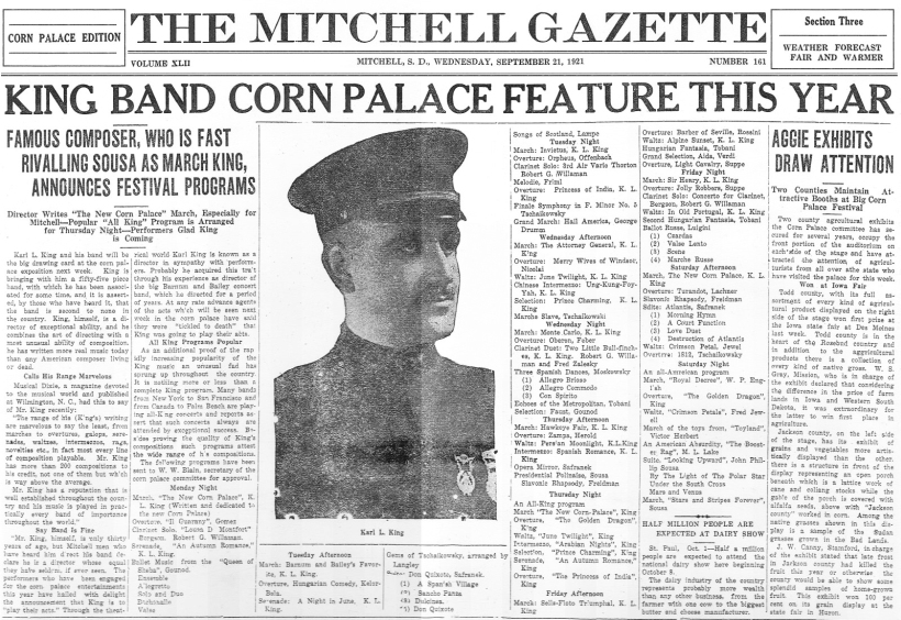 Corn Palace News Article - click to enlarge