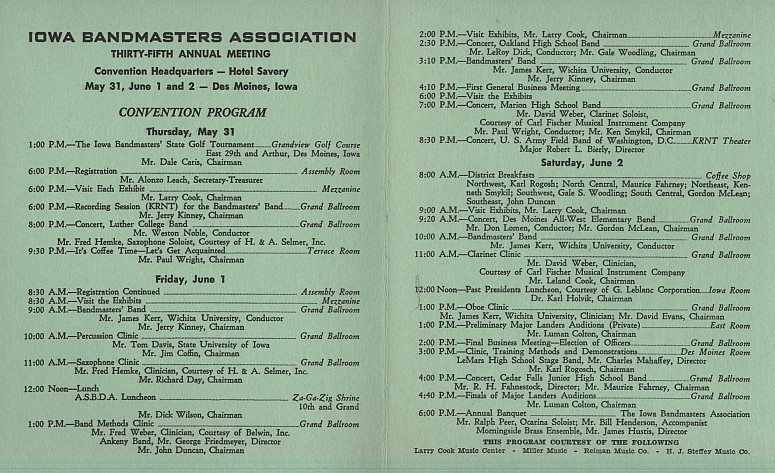 1962 IBA Convention Program - click to enlarge